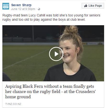 Lucy Cahill rugby