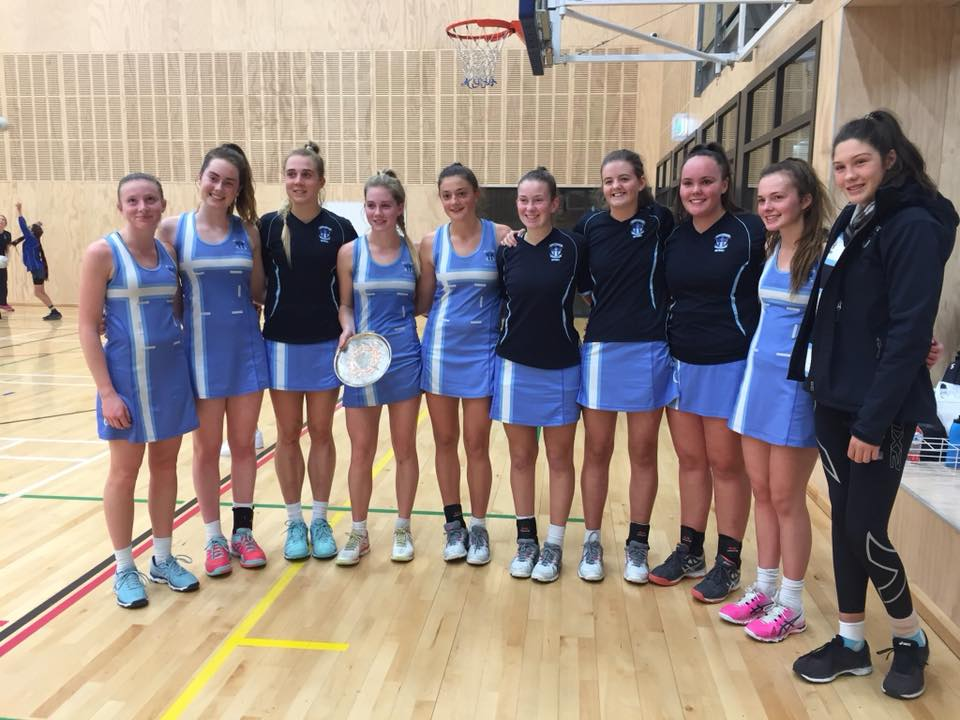 Senior A Netball team win comp plate for round 1 supernet